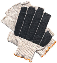 MCR Safety Large Memphis 7 Gauge Black PVC Palm And Finger Tip Coated Work Gloves With White Cotton/Polyester Liner And Knit Wrist