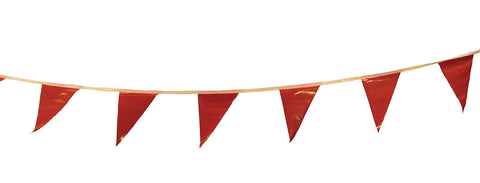 Cortina Safety Products Group 100' Red Pennant Flag