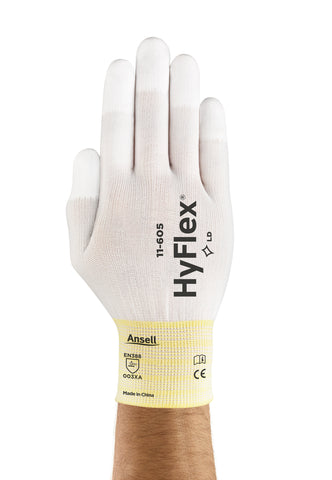 Ansell Size 6 HyFlex® Lite 15 Gauge Polyurethane Work Gloves With White Nylon Liner And Elastic Cuff   -Price is per 144 Pair