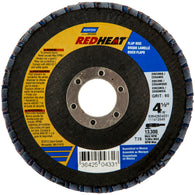 "Norton® Red Heat® 4 1/2"" X 7/8"" 36 Grit Type 29 Flap Disc"