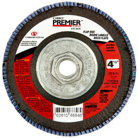 "Norton® Carbo Premier Red 4 1/2"" X 5/8"" - 11"" 40 Grit Type 27 Flap Disc   -Price is per 5 Each"