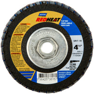 "Norton® Red Heat® 4 1/2"" X 5/8"" - 11"" 36 Grit Type 29 Flap Disc   -Price is per 5 Each"