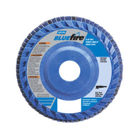 "Norton® BlueFire® 7"" X 7/8"" 60 Grit Type 27 Flap Disc"