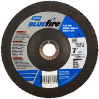 "Norton® BlueFire® 7"" X 7/8"" 24 Grit Type 29 Flap Disc"