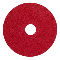 "Norton® 5 "" X 7/8 "" 36 Grit Red Heat Ceramic Alumina Fiber Disc   -Price is per 10 Each"