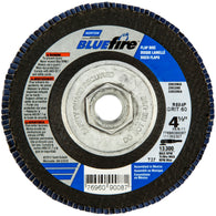 "Norton® BlueFire® 4 1/2"" X 5/8"" - 11"" 60 Grit Type 27 Flap Disc   -Price is per 10 Each"