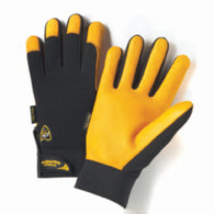 PIP® Large Black Pro Series® Deerskin Full Finger Mechanics Gloves With Hook And Loop Cuff