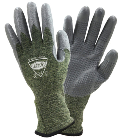 PIP® Medium Ironcat 13 Gauge Kevlar® Armid Fiber Cut Resistant Gloves With FR Silicone Coating