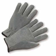 PIP® Large Grey Standard Split Cowhide Unlined Drivers Gloves