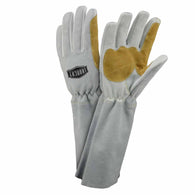 "PIP® Medium 16.75"" Natural And Tan Premium Split Goatskin/Cowhide Cotton Lined MIG Welders Gloves"
