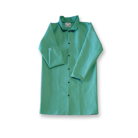 "JACKET 4X-LARGE 50"" 9OZ FLAME RESISTANT COTTON GREEN"