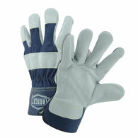 PIP® Small Premium Split Leather Palm Gloves With Canvas Back And Rubberized Safety Cuff