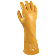SHOWA® Size 10 Yellow Cotton Lined PVC Chemical Resistant Gloves   -Price is per 36 Pair