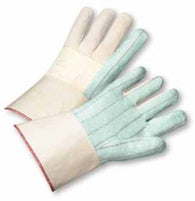 GLOVE HOTMILL 30OZ COTTON LARGE GREEN PALM RAYON LINED GAUNTLET CUFF