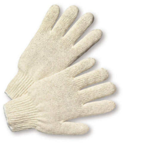 PIP® Natural Large Cotton And Polyester General Purpose Gloves With Knit Wrist   -Price is per 1 Pair