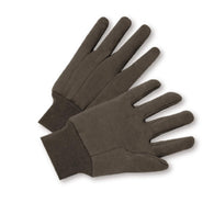 PIP® Brown Large Cotton General Purpose Gloves With Knit Wrist