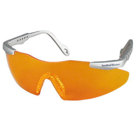 Kimberly-Clark Professional* Smith & Wesson® Magnum® 3G Platinum Safety Glasses With Orange Hard Coat Lens
