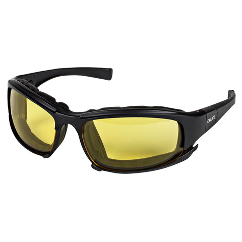 Kimberly-Clark Professional* KleenGuard Calico* Black Safety Glasses With Amber Anti-Fog/Anti-Scratch Lens