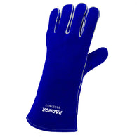 Radnor Ladies X-Small Blue Cowhide Left Hand Welders Glove