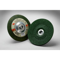 "3M 4"" X 1/4"" X .375"" Green Corps 24 Grit Ceramic Type 27 Grinding Wheel"