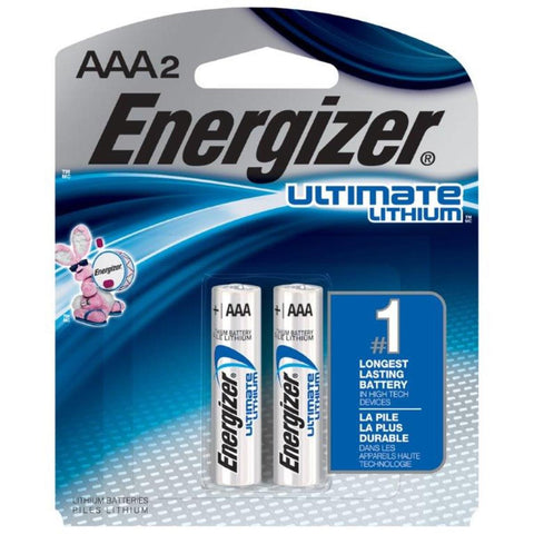 Energizer 1.5 Volt  AAA  Ultimate Lithium Battery (2 Per Package)