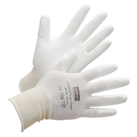 Honeywell Size 10 NorthFlex Light Task 15 Gauge White Polyurethane Palm Coated Work Gloves With White Nylon Liner And Knit Wrist