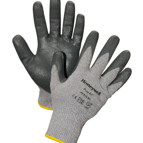 Honeywell Medium Pure Fit FLX Cut 13 Gauge High Performance Polyethylene Cut Resistant Gloves With Nitrile Coated Palm And Fingertips   -Price is per 1 Pair