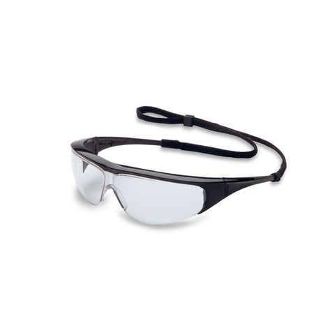 Honeywell Uvex Millennia Black Safety Glasses With Clear Anti-Scratch Lens -Price is per 1 Each