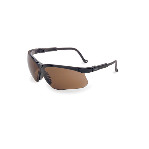 Honeywell Uvex Genesis® Black Safety Glasses With Espresso Anti-Scratch/Hard Coat Lens -Price is per 1 Each