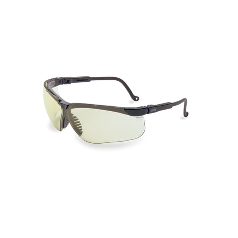 Honeywell Uvex Genesis® Black Safety Glasses With SCT Low IR Anti-Scratch/Hard Coat Lens -Price is per 1 Each