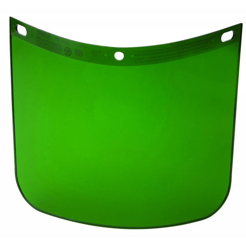 "Honeywell Fibre-Metal® 8"" X 11 1/4"" X .06"" Dark Green Propionate Faceshield"