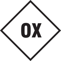 "Accuform® 4"" Black And White 2 mil Self-Adhesive Polyester Hazard Panel ""OX"" (For 10"" X 10"" Placard)"