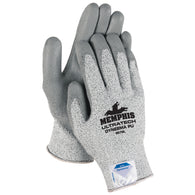 MCR Safety 2X Cut Pro DSM Dyneema Cut Resistant Gloves With Polyurethane Coating