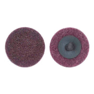 "Merit® 3"" Medium Grade Aluminum Oxide PowerLock Maroon Type III/Type XC Quick Change Disc   -Price is per 25 Each"