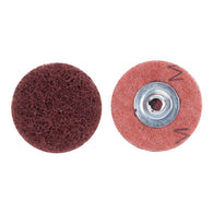 "Merit® 2"" Medium Grade Aluminum Oxide PowerLock Brown Type II Quick Change Buffing Disc   -Price is per 50 Each"