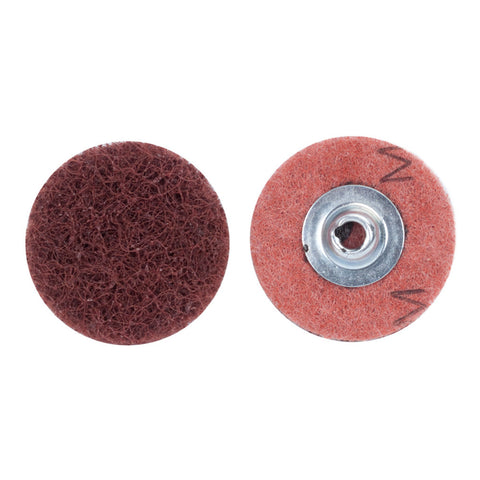 "Merit® 2"" Medium Grade Aluminum Oxide PowerLock Brown Type II Quick Change Buffing Disc"
