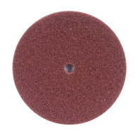 "Merit® 6"" X 1/2"" Fine Grade Aluminum Oxide Brown High Strength Arbor Hole Disc   -Price is per 25 Each"