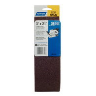 "Norton® Adalox® R215/R255 3"" X 21"" 36 Grit Aluminum Oxide Cloth Portable Belt   -Price is per 5 Each"