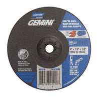 "Norton 4"" X 1/8"" X 3/8"" Gemini Extra Coarse Grit Type 27 Depressed Center Grinding And Cutting Wheel"