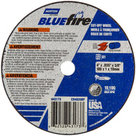 "Norton® 4"" X .035"" X 3/8"" BlueFire® Coarse Grit Zirconia Alumina Portable Type 01/41 Small Diameter Cut Off Wheel   -Price is per 1 Each"