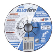 "Norton 4"" X 1/4"" X 5/8"" BlueFire Extra Coarse Grit Type 27 Depressed Center Grinding Wheel"