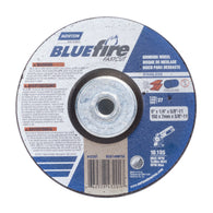 "Norton 6"" X 1/4"" X 5/8"" - 11 BlueFire INOX/SS Extra Coarse Grit Type 27 Depressed Center Grinding¦"