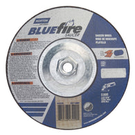 "Norton 7"" X 1/4"" X 5/8"" - 11 BlueFire Extra Coarse Grit Type 28 Depressed Center Saucer Wheel"