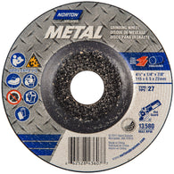 "Norton® 4 1/2"" X 1/4"" X 7/8"" Metal Extra Coarse Grit Aluminum Oxide Type 27 Depressed Center Grinding Wheel   -Price is per 1 Each"