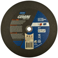 "Norton 10"" X 3/32"" X 5/8"" Gemini Extra Coarse Grit Type 01/41 Stationary Saw Cut Off Wheel"