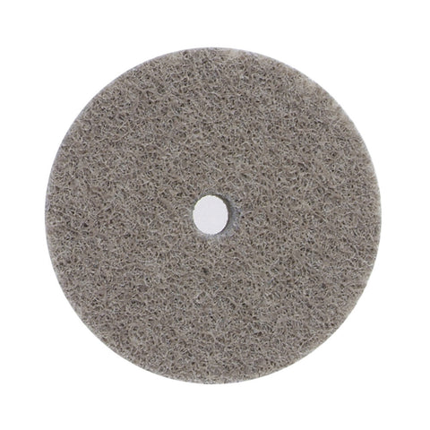 "Norton® 3"" X 3/4"" X 1/4"" 220 Grit Fine Grade Aluminum Oxide Bear-Tex® Rapid Blend Deburring Gray Arbor Hole Unified Wheel"
