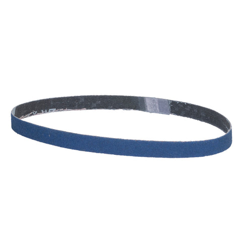"Norton® BlueFire® 1/2"" X 18"" 80 Grit Zirconia Alumina Cloth File Belt   -Price is per 200 Each"