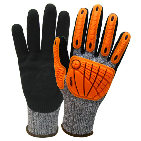 Wells Lamont Large FlexTech 13 Gauge Fiber And Stainless Steel Cut Resistant Gloves With Sandy Nitrile Coated Palm And Fingertips   -Price is per 1 Each