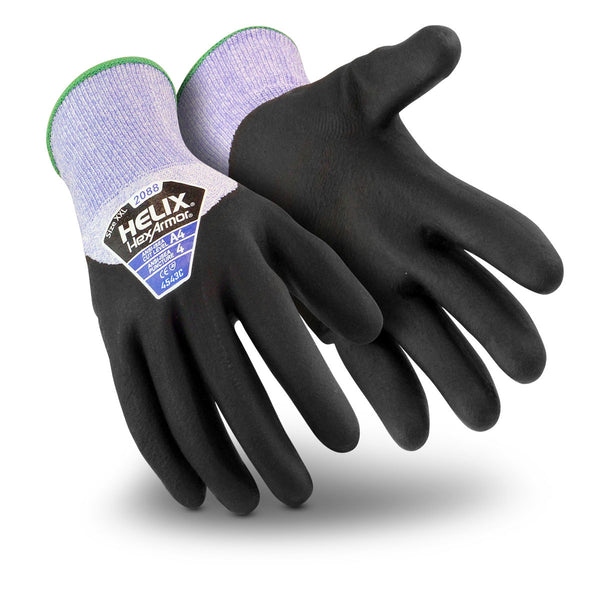 HexArmor X-Large Helix HPPE/Fiberglass Cut Resistant Gloves With Foam Nitrile Coating