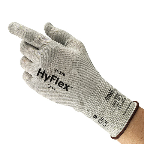 Ansell Size 10 HyFlex® 18 Gauge DSM Dyneema® Diamond Spandex And Nylon Knit Cut Resistant Gloves